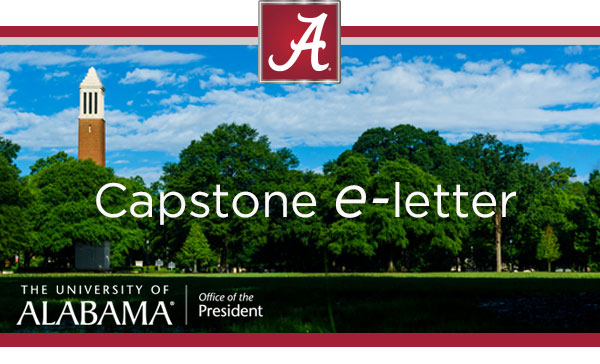 Capstone e-Letter email header picture with a view of the quad and Denny Chimes